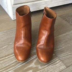 J. Crew booties in chestnut